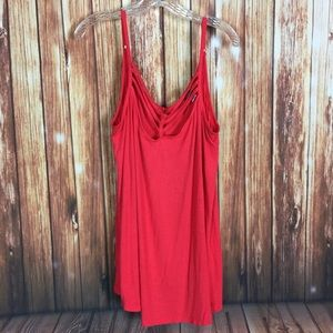 Torrid Size 3 Coral Triple Strappy Bust Tank Top